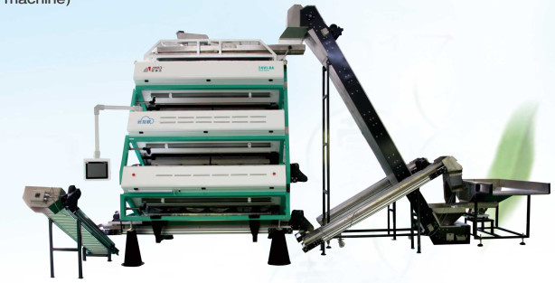 Vertical Tea Colour Sorter Machine , Advanced Optical Sorting Equipment